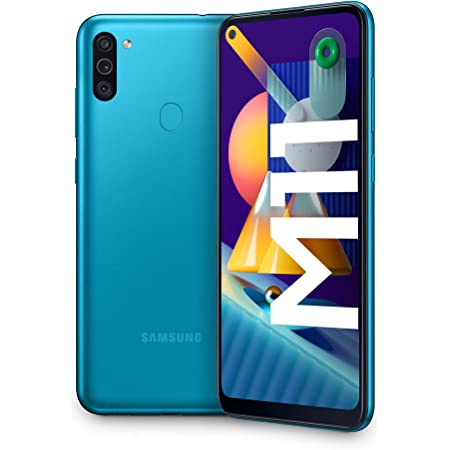 "Samsung Galaxy M11, Smartphone, Display 6.4"" HD+ TFT, 3 Fotocamere, 32GB Espandibili, RAM 3GB, Batteria 5000 mAh, 4G, Dual Sim, Android 10, 2020, Blu (Metallic Blue)"