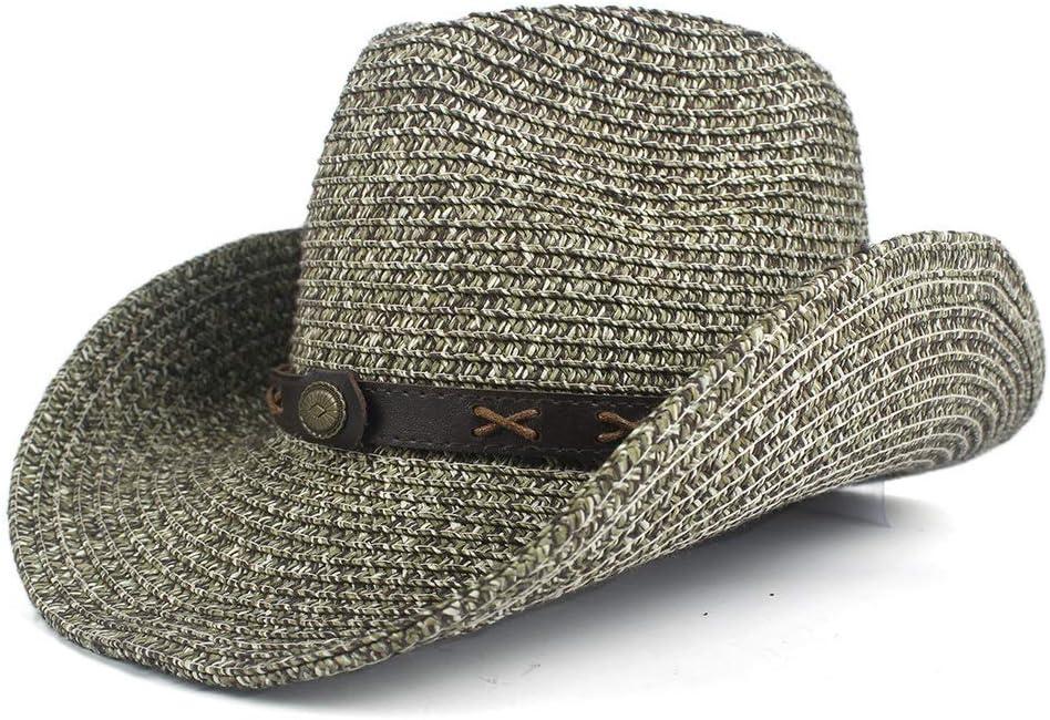 LIRRUI Western price Cowboy service Hats Men Straw Party Women Cowgirl Summer