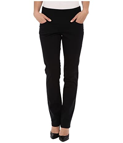 Jag Jeans Peri Pull-On Straight Leg Pants in Bay Twill (Black) Women