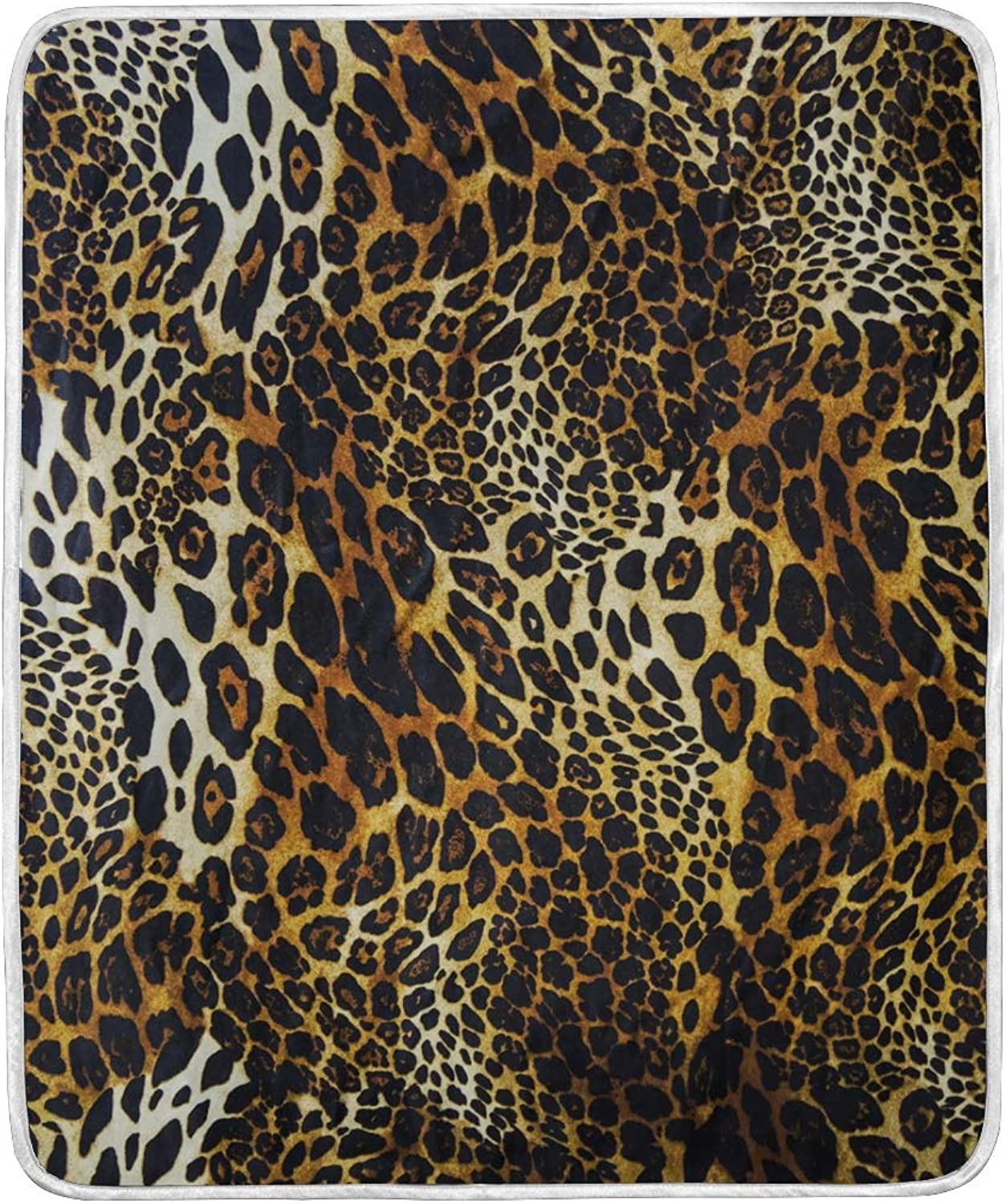 WIHVE Home Decor Blanket Leopard Print Throw Lightweight Soft Warm Blankets Bed Couch Sofa 50 X 60 Inches