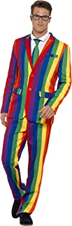Smiffy's Men's Off The Wall Suit with Jacket Trousers and Tie