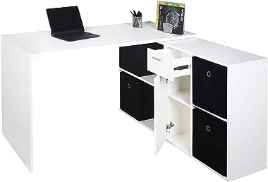 RICOO WM081-WM Scrivania Scrittoio angolare Salvaspazio Tavolo Lavoro da Angolo Ufficio Moderna Postazione PC Consolle Studio
