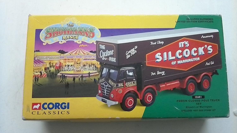 Corgi 12601  1 50 Foden Closed Pole Truck Set Silcock's of Warrington