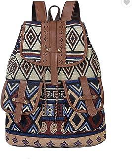 Multicolor Unisex Backpack Blue Brown Shoulder Bag Perfect for Travel, School-New