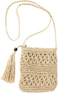 Details about  /Personality Crossbody Straw Braided Women Leather Satchel Shoulder Bags Handbags
