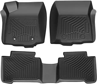 Auovo Floor Mats Fits for Toyota Tacoma 2019 2018 2017 2016 Double Cab with Automatic Transmission TPE Full Set Floor Liners Accessories(1st and 2nd Rows) (Pack of 3)