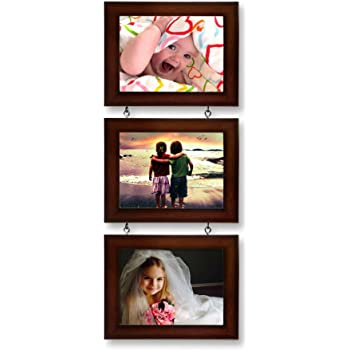 AJANTA ROYAL Drop-Down 3 - 5 x 7 Photo Frame (Brown)