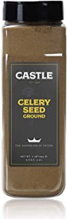 Castle Foods | Celery Seed Ground, Premium Restaurant Quality, 16 ounces, NonGMO, Kosher