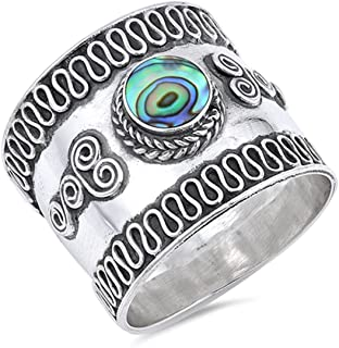 Prime Jewelry Collection Select Your Color Sterling Silver Stunning Women's Bali Ring