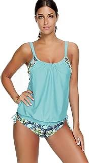 Zando Women High Waisted Bikini Set Swimsuit Flounce Two Piece Bathing Suit Women Beachwear