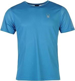 SPYDER Alpine - Camiseta para Hombre Azul Plata Talla L Azul