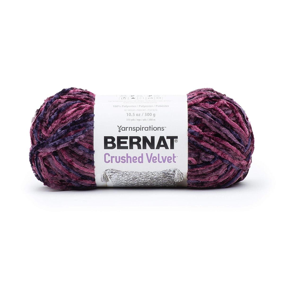 Bernat  Crushed Velvet Yarn, Burgundy