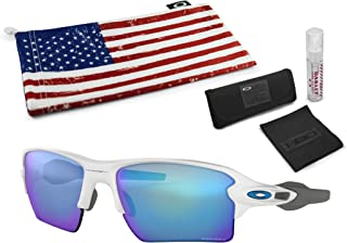 Flak 2.0 XL Sunglasses with Lens Cleaning Kit and Country...