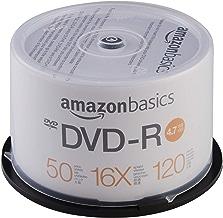 AmazonBasics 4.7 GB blank 16x DVD+R - 50 Pack Spindle