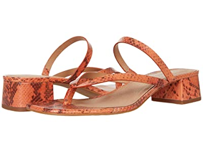 Madewell Joelle Bare Heel Slide in Snake Embossed Leather