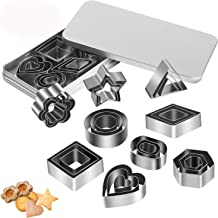 Tmflexe Upgraded 27pcs Mini Geometric Shaped Cookie Biscuit Cutter Set Round Square Triangle Star Love Heart Baking Stainl...