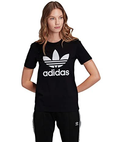 adidas Originals Trefoil Tee (Black/White 4) Women