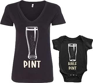 Threadrock Pint & Half Pint Infant Bodysuit & Women's V-Neck T-Shirt Set