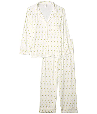 Eberjey Giving PJ Long PJ Set (Pineapples/Bellini) Women