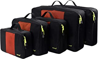 Mozing Packing Cubes for Travel, Light Weight Luggage Packing Organizers for Journey Durable Fabric &Zippers Travel Organizer for Business travel, Backpacking Camping, Cruise Holidays, Black (Black) - MOZ0014-Black