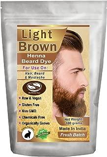 1 Pack of Light Brown Henna Beard Dye for Men - 100% Natural & Chemical Free Dye for Hair, Beard & Mustache - The Henna Guys