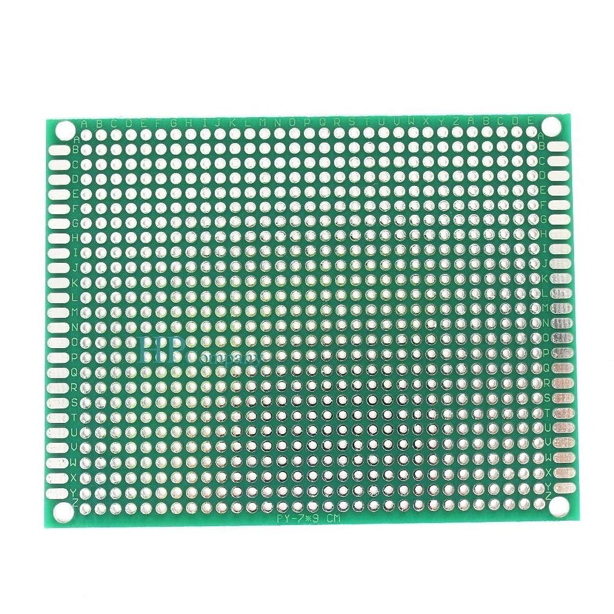 慣らす定数数学WillBest 1PCS 7 * 9CM 7X9cm Single Side PCB Board Glass Fiber Green PCB Circuit Board
