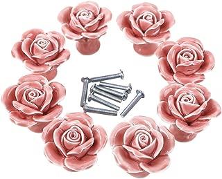 pink rose knobs