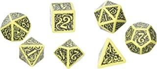 Q WORKSHOP Call Of Cthulhu The Outer Gods Hastur RPG Ornamented Dice Set 7 Polyhedral Pieces