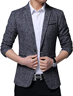 Jueshanzj Men's Slim Fit Suit Jacket One Button