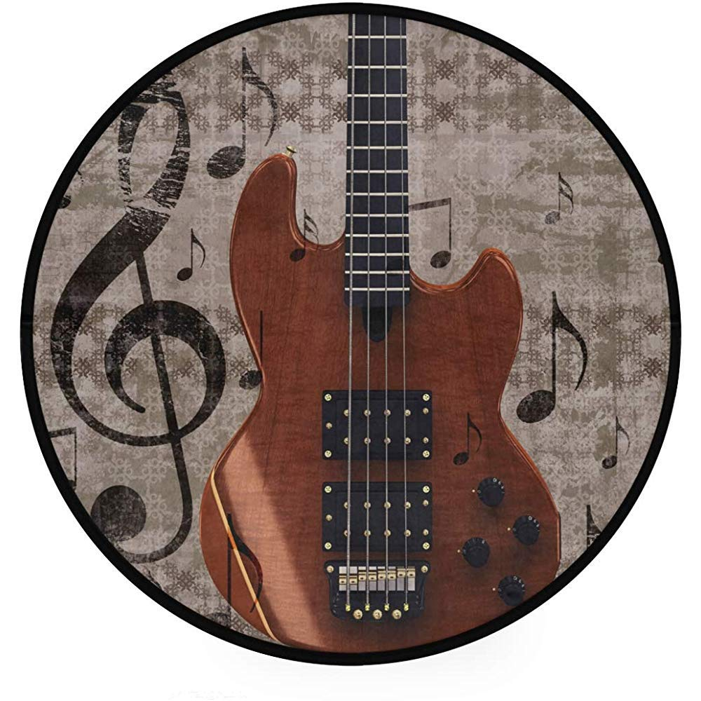 Saudade House Area Rugs Grunge Retro Musical Guitarra ...