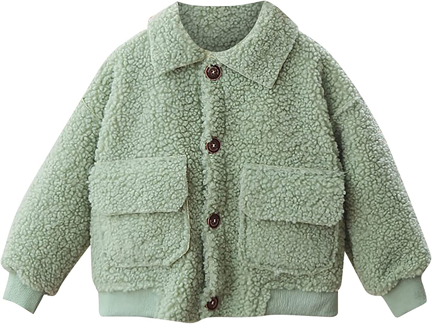 Toddler Baby Boy Girl Winter Multicolor Lapel Plush Jacksonville Mall Coat Buttons New product!!