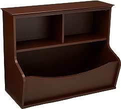 AmazonBasics Children's Multi-Functional Bookcase and Toy Storage Bin - Espresso