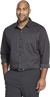 Men's Big and Tall Long-Sleeve Traveler No-Iron Button-Front Shirt