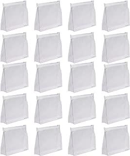 Bluecell 20 PCS Mini Small PVC Transparent Plastic Cosmetic Organizer Bag Pouch With Zipper Closure,Travel Toiletry Makeup Bag