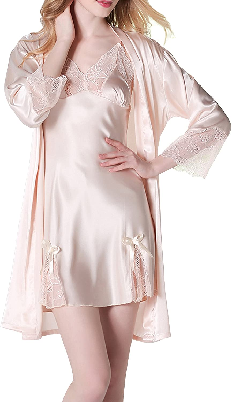 Mini Balabala Damen Morgenmantel Kimono Satin Kurz Nachtw/äsche Bademantel Robe Schlafanzug Mit Peacock und Blumen