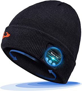 Bluetooth Beanie Hat, Gift Idea for Men Women Christmas Stocking Stuffers, Bluetooth 5.0 Music...
