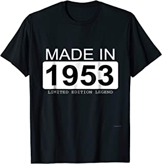 Made In 1953 Limited Edition Legend Born in 1953 T Shirt
