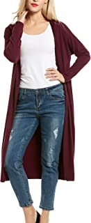 Beyove Damen Strickjacke mit Spitze Offene Cardigan Strickmantel Outwear Langarm Mantel Coat Tops Herbst Winter