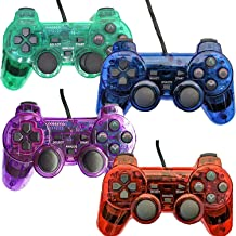 Wired Controller for PS2 Playstation 2 Dual Shock(Pack of 4,Red,Blue,Green,Purple)