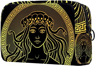 Ancient Greek Woman Makeup Bag, Toiletry/Travel Bag for Brushes Jewelry Accessories Collection, Single Layer Storage Bag f...