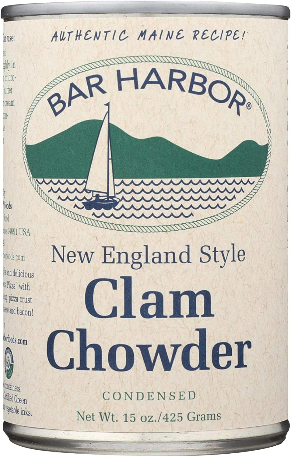 Bar Harbor All Natural Manufacturer direct delivery New Max 54% OFF England Clam - Case 6 15 Chowder of