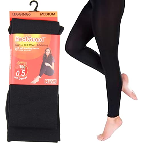 16f936a879c Ladies Heat Guard Black Thermal Leggings 140 Denier Tog 0.5 Small Medium  Large