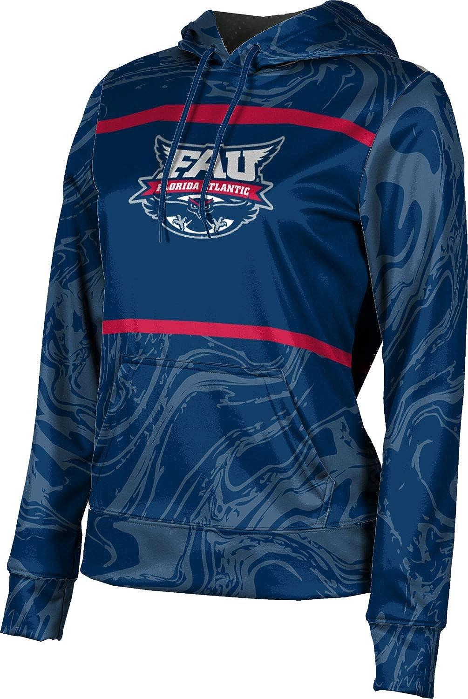 Florida Atlantic University Girls' Pullover Hoodie, School Spirit Sweatshirt (Ripple)