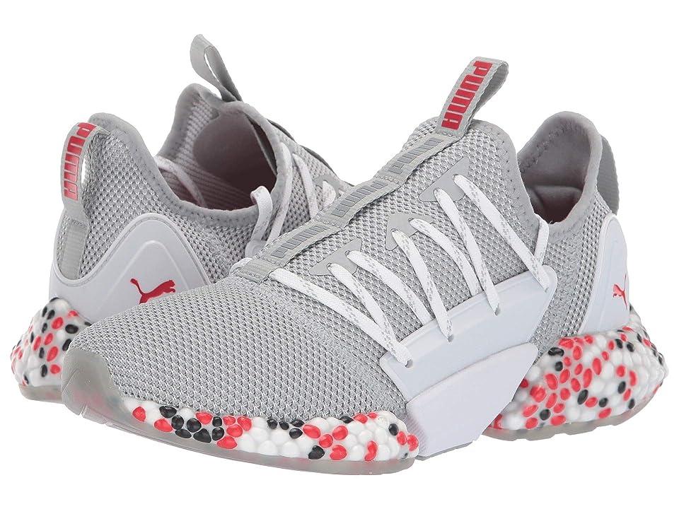 Puma Kids Hybrid Rocket Runner (Big Kid) (Quarry/High Risk Red/Puma Black) Boys Shoes