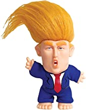 Juvarick Collectible President Donald Trump Troll Doll, Hair to The Chief Trolls Toys with Suit