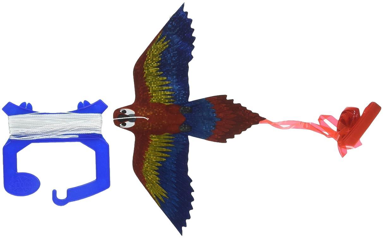 MicroKite Mini Mylar Kite, Macaw, 1-Pack