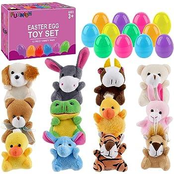 Toys Stuffed Farm /& Woodland Easter 12 Pieces Fun Express Plush Plush Chocolate Bunnies for Easter