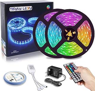 10M RGB LED strip 5050, Tiray Ledy IP65 waterdichte veelkleurige LED strips met LED verlichting Complete set voor thuis, r...