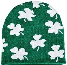 Irish Shamrock Beanie Hat - St Patrick Day Clover Ski Cap Hat