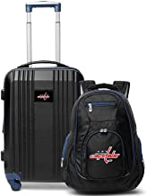 """Denco Washington Capitals 2-Piece Luggage Set, Includes 21-inch Two-Tone Hardcase Spinner and 19"""" Laptop Backpack"""
